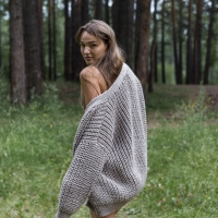 Объемное вязаное