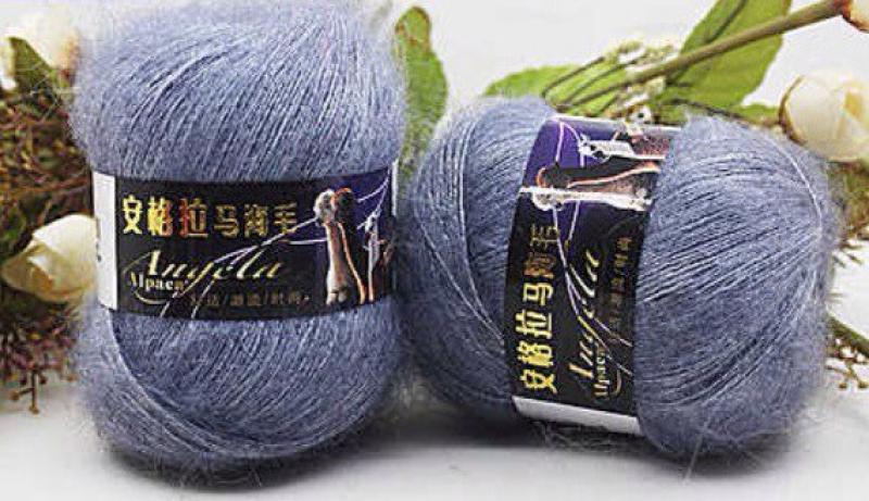 Мохер для ручного вязания